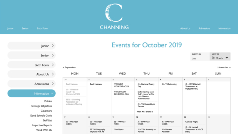 Events calendar and ticket booking system
