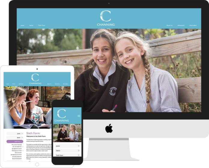 Channing School website mockup